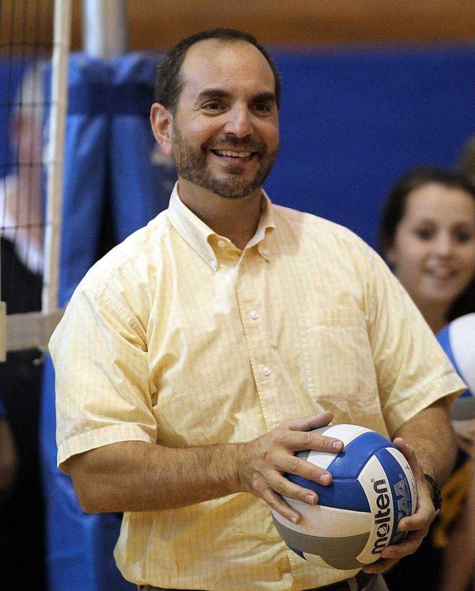 Mattituck girls volleyball head coach Frank Massa. (Oct.