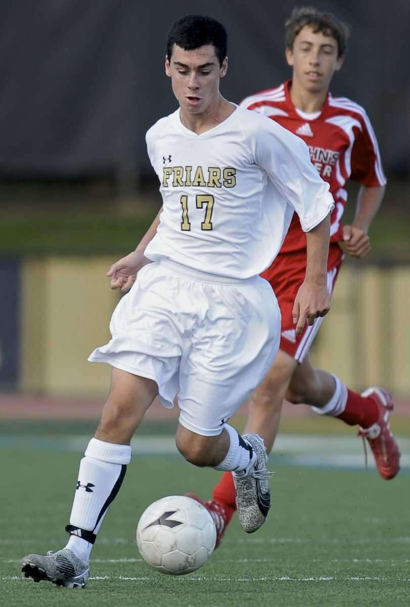 St. Anthony's Colin Volpe breaks away with the