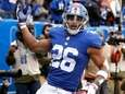 Giants running back Saquon Barkley celebrates his touchdown