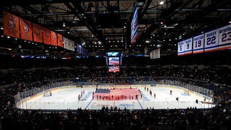 A view of Nassau Coliseum, home of the