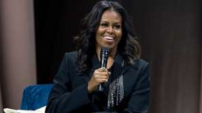 Former first lady Michelle Obama speaks to the