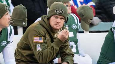 Jets quarterback Sam Darnold during the second half