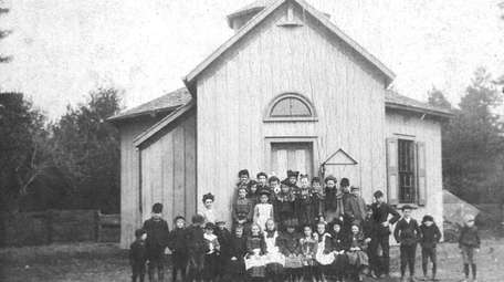 The Modern Times Schoolhouse in Brentwood was constructed
