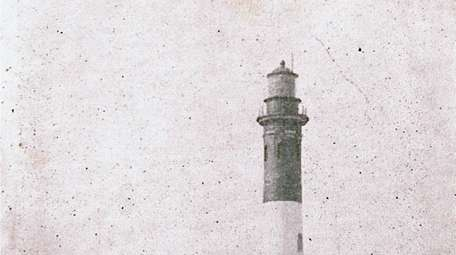 A 1905 postcard pictures the Fire Island Lighthouse.