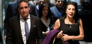 Philip and Catherine Vetrano, center, arrive at Supreme