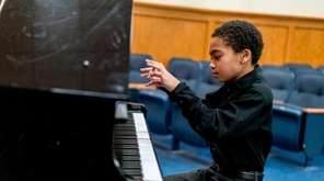 Jesse Hubbs, a sixth-grader at Long Beach Middle