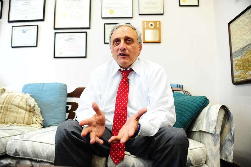 GOP gubernatorial candidate Carl Paladino is interviewed at