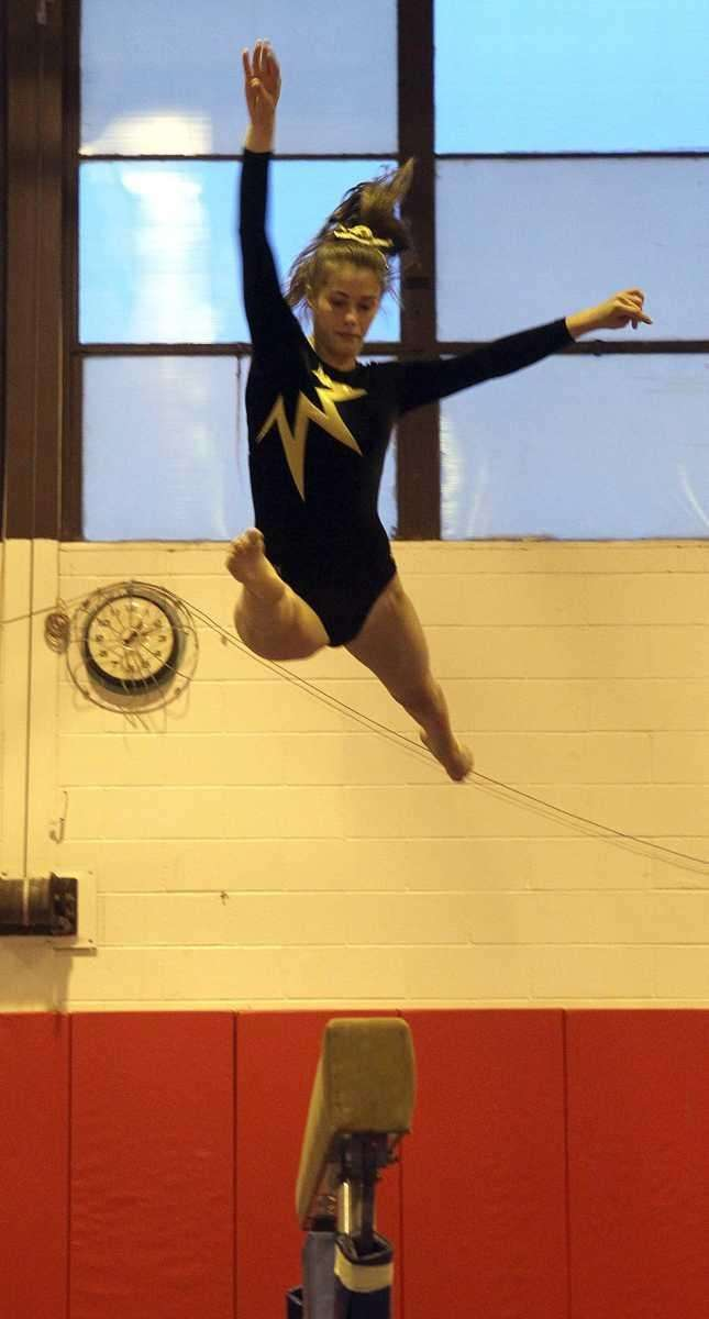 Commack's Shannon VonBrunsberg with a split over the