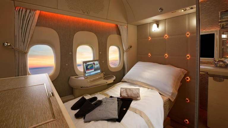 Six first-class fully- enclosed private suites are available