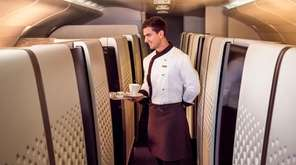 At Etihad Airways, the first-class suites feature on-demand