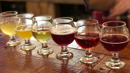 A mead sampler at W A Meadwerks in