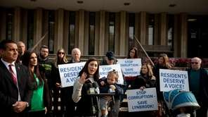 Lynbrook residents and officials held a rally outside