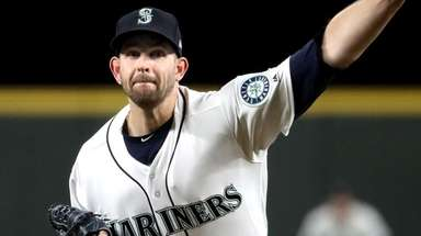 James Paxton pitches against the A's at Safeco