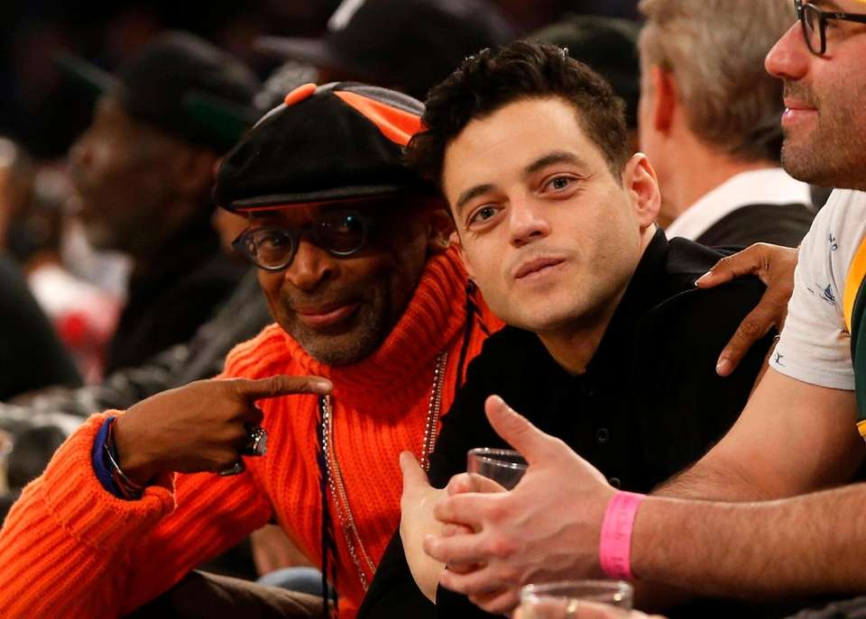Actor Rami Malek, right, and film director Spike