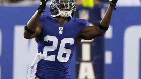 Antrel Rolle #26 of the New York Giants