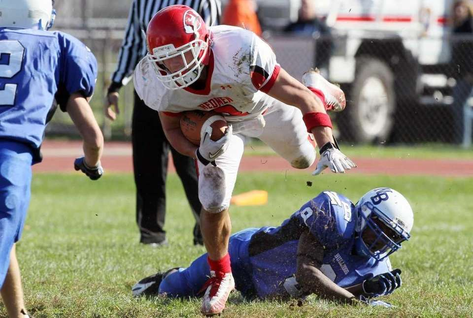 Tyler Rigo #2 of the East Islip Redmen