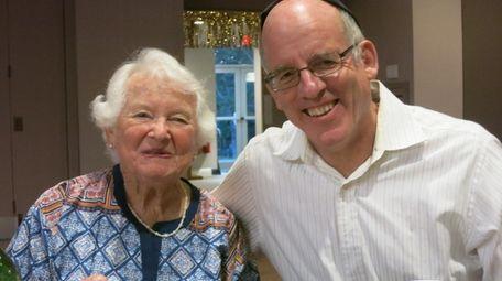 Saul Schachter and his mom, Vivian Sibener Schachter