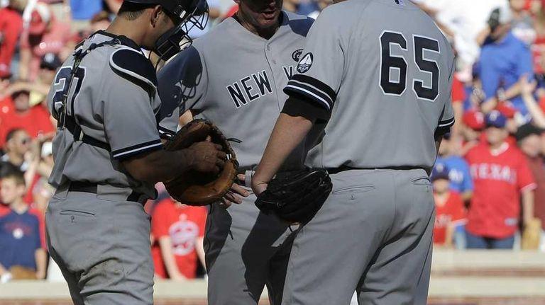 New York Yankees' starting pitcher Phil Hughes