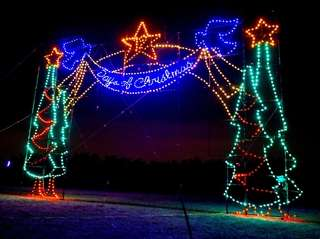 The Magic of Lights is displayed at Jones