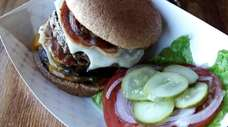 A Big Jack Burger  at Jack's Shack