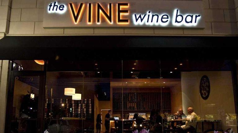 The Vine Wine Bar is on Merrick Road