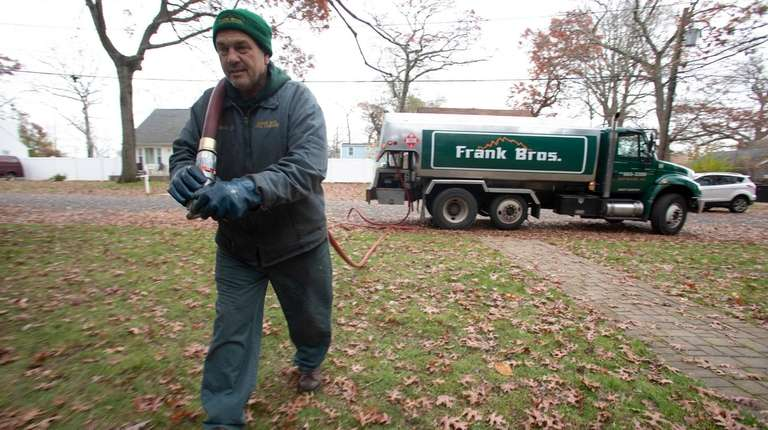 Michael Coniglio, an oil truck driver for Frank
