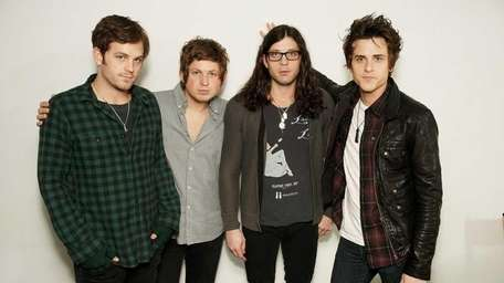 Caleb Followill, left, Matthew Followill, Nathan Followill and
