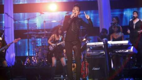 Recording artist Monica performs on stage at