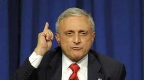 Carl Paladino speaks during Monday night's gubernatorial debate