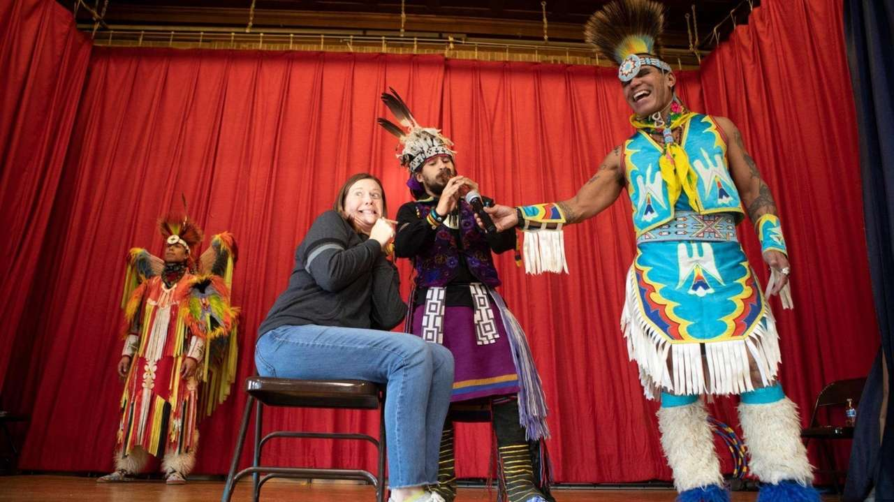 The Redhawk Native American Arts Council visited Davison