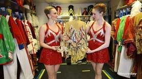 Rockettes Samantha Jo Harvey and Joanna Richardson gave