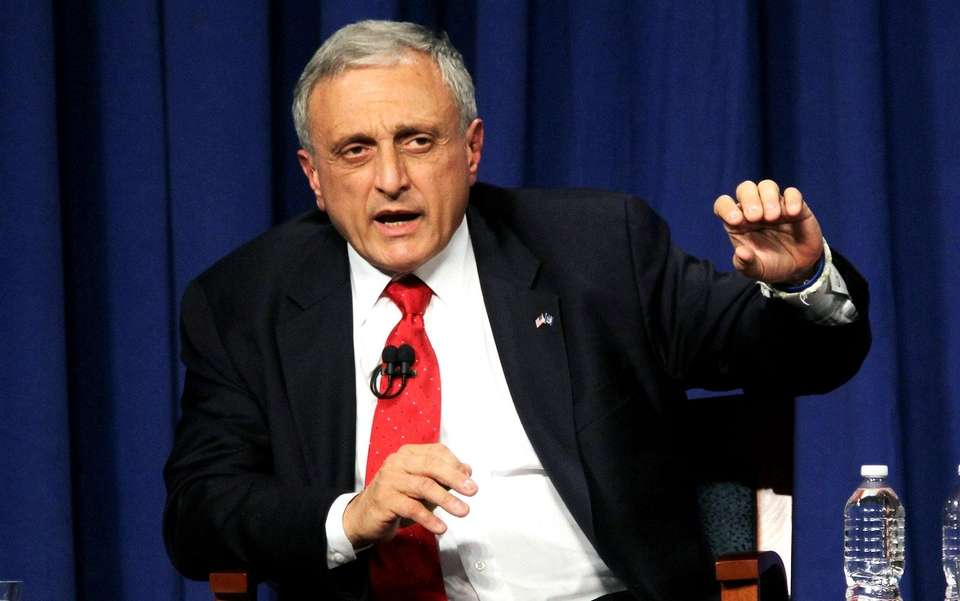 Republican nominee Carl Paladino speaks during the NY