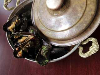 Mussels Provencale is served at Aperitif, a French