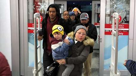 Shoppers make their way into the Target store