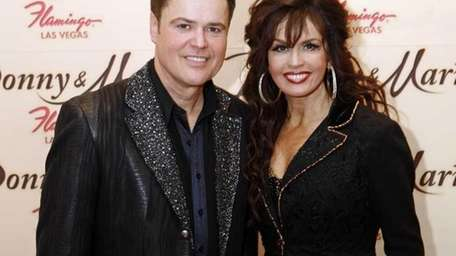 Sibling performers Donny Osmond and Marie Osmond after