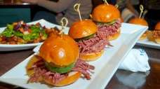 Corned beef sliders at O'Hara's Ale House &