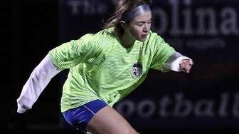 Nassau's Erin Fogarty shoots on goal at the