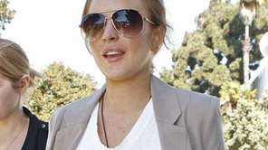 Lindsay Lohan is seen at the courthouse in