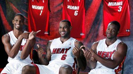 The union of Chris Bosh, LeBron James and