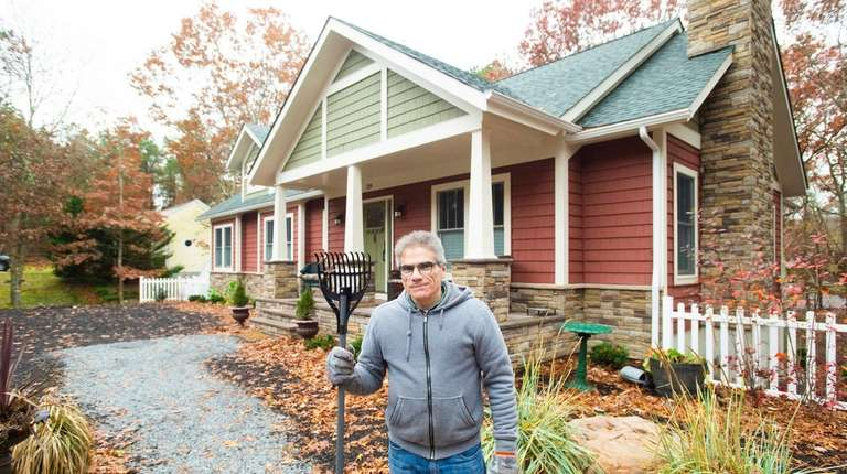 Homeowner Vince Taldone, in front of his house