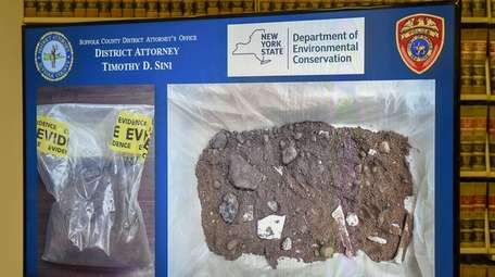 Evidence seized from a dumping site on Seymour