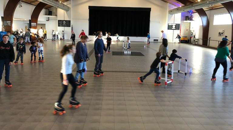 The Greenport American Legion roller skating rink reopened