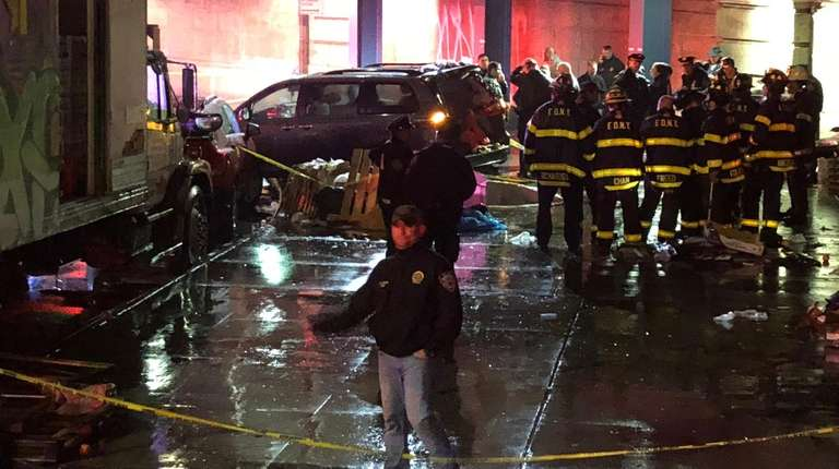 Seven pedestrians were hit, one fatally, by a