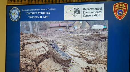 A picture of debris dumped at a home
