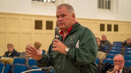 Former Bayville Mayor Paul Rupp addresses the village