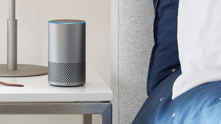 Amazon Echo features the voice assistant Alexa, and