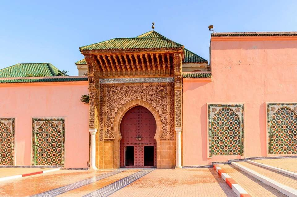 Moulay Idriss' tomb in Meknes, Morocco.