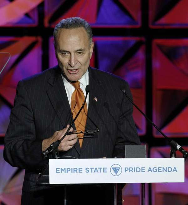U.S. Sen. Charles Schumer (D-N.Y.) speaks at the