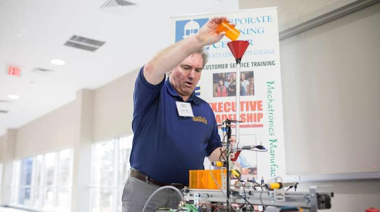 Jim Walsh, an instructor in Suffolk County Community