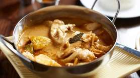Massaman curry with chicken is served at Rice